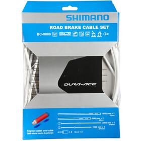 Shimano Dura-Ace Kit de câbles de frein Roue Avant/Roue Arrière, white